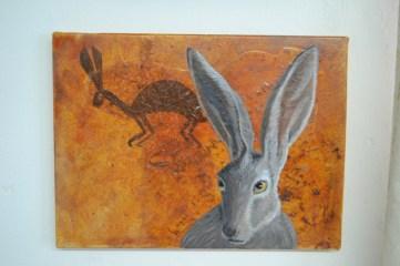 Jack Rabbit with Petroglyph