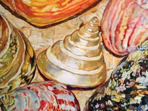 Detail of Shell painting