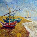 Fishing boats on the Beach of Saintes, Vincent Van Gogh