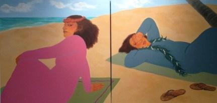 """Makaha Diptych, Acrylic, 36"""" x 72"""""""