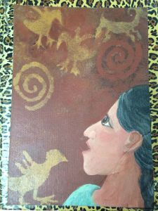 Here is a painting I did of Corrie on the front of one of my many journals.