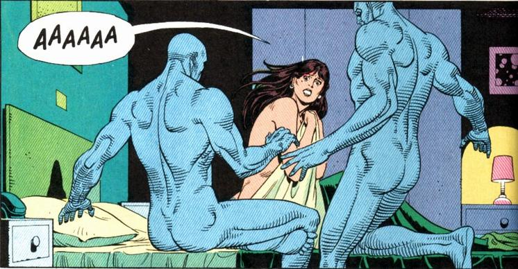 Dr. Manhattan and Laurie