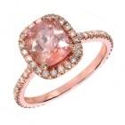 Rose Gold Pave' Diamond Ring