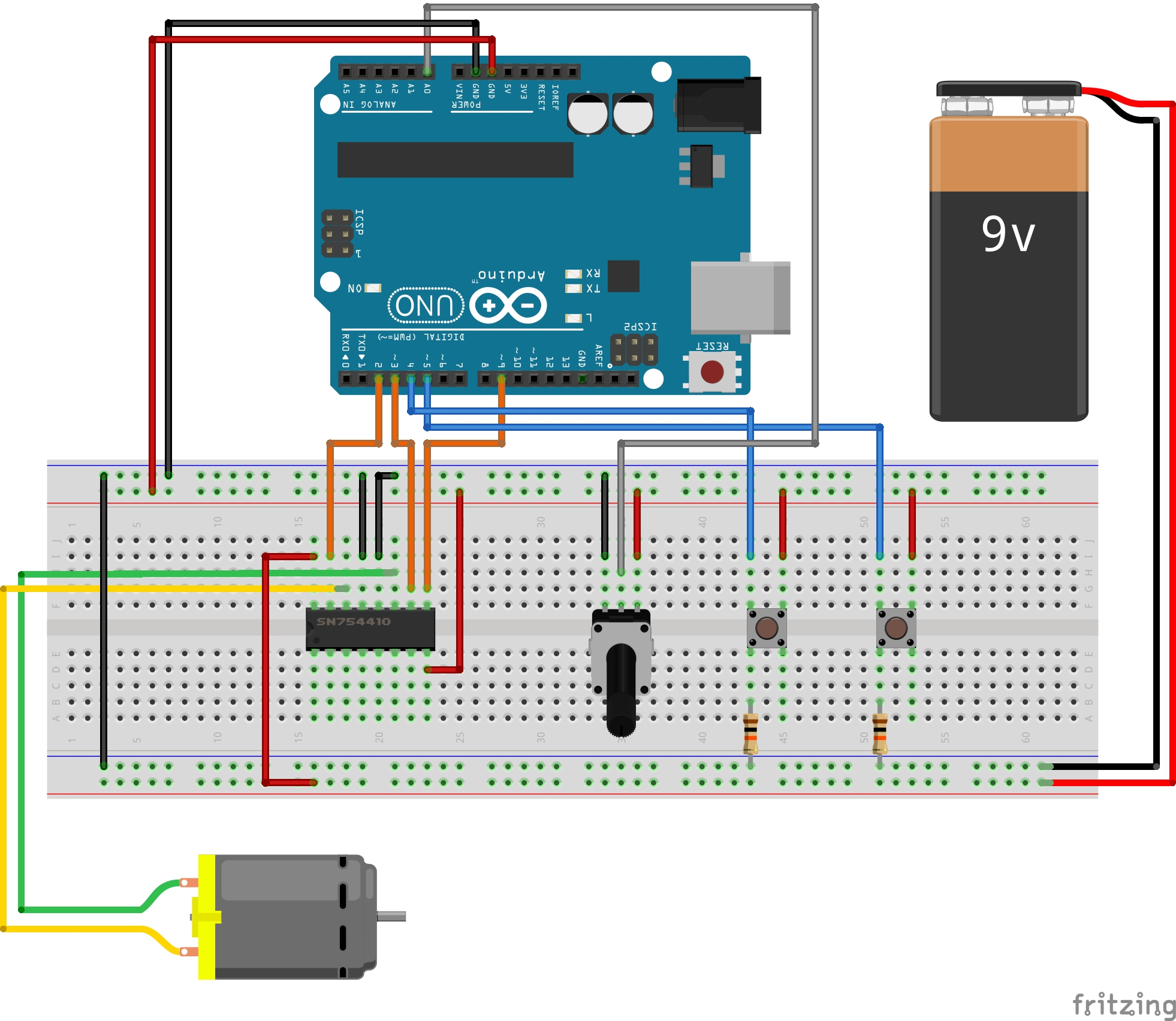 hight resolution of  i set the code that enables them to high 1a low 2a and low 1a high 2a according to the data sheet 3 potentiometer enables the motor is spinning in