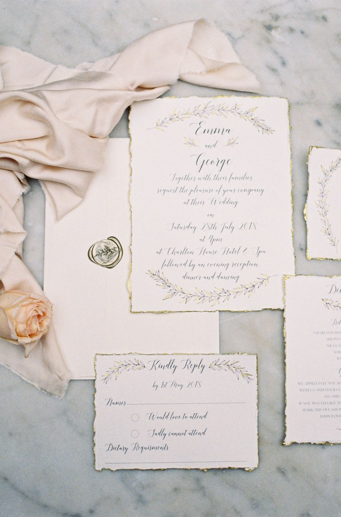 Botanical wedding theme stationery | Liz Baker Fine Art Photography