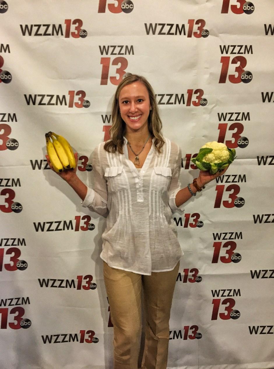 Colorless food selfie at WZZM