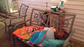 """Can I sleep on the porch while you write?"""