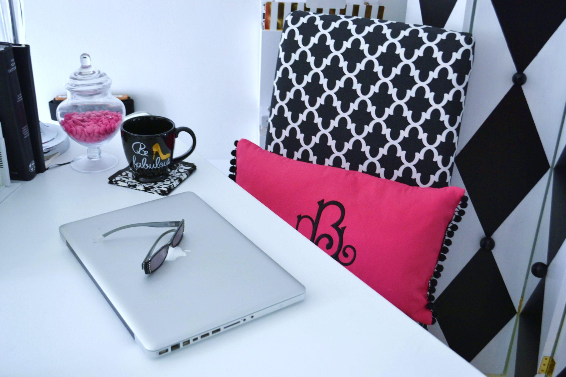 9 Hot Pink Black  White Office Decor Ideas  Liz Bushong