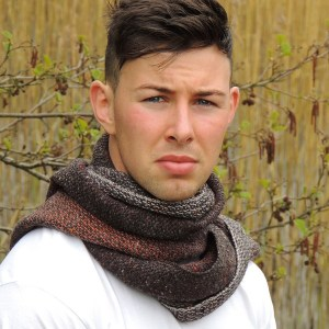 Hand woven men's scarf Kavanagh inspired October morning