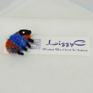 LizzyC Sheep Brooch on_card
