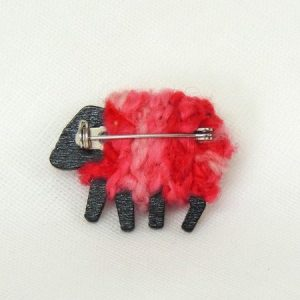rear|view|lizzyc|sheep|brooch|coral
