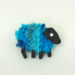 LizzyC|Sheep|Jade|Brooch