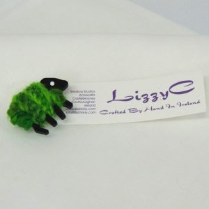 green|sheep|brooch|on-card