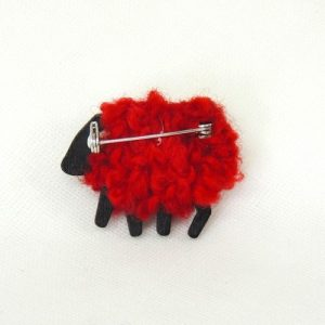 rubyred|sheep|brooch|back|view