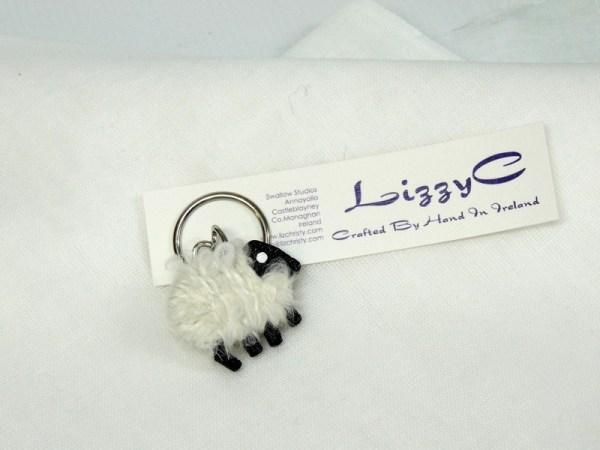 LizzyC Sheep Keyring