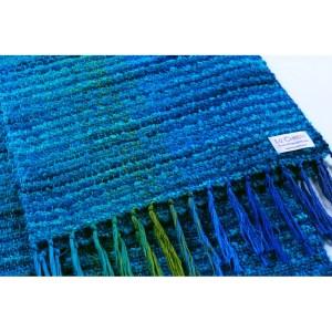 Hand woven scarf walk at argenteuil lazuli