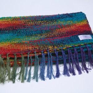 folded-irish-wool-scarf-waterlillies-mardigras