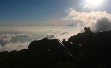 Climbing Kilimanjaro: End of day four with spectacular views, October 3, 2011.