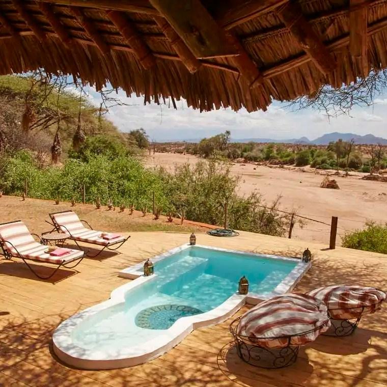 Plunge pool Sasaab Lodge