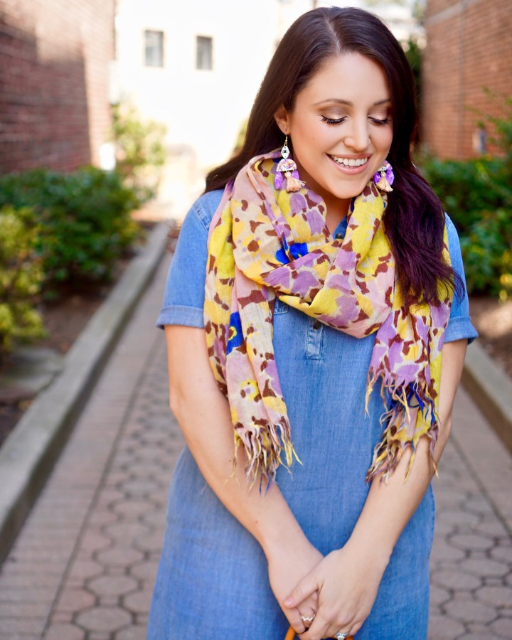 crepe scarves to combat april's chill