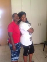 My roommates, Thokozile and Nosiphiwe