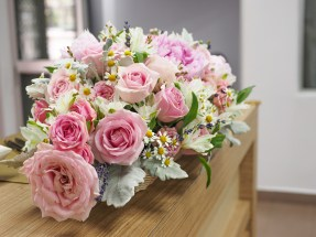 Church Wedding, Pink Wedding Singapore, Bridal Bouquet Singapore