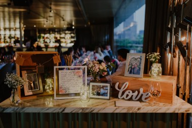 Reception Table Styling, Photobook Table Singapore, AURA, Liz Florals