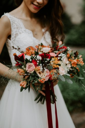 Autumn Bridal Bouquet at Dempsey