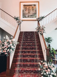 Intercontinental Singapore Staircase Decorations by Liz Florals