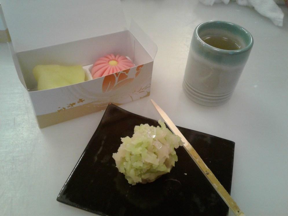 All my wagashi + osencha.