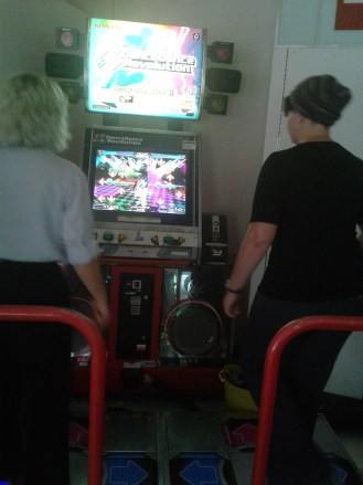 DDR game featuring Pitbull