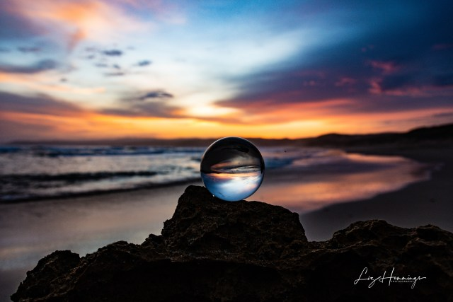 Aireys Inlet Sunset through my Lens Ball