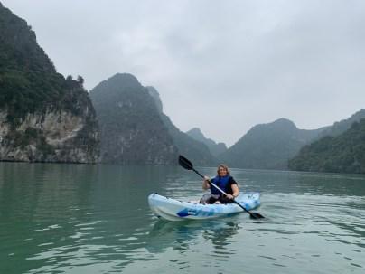 Kayaking in Frog Bay, Vietnam