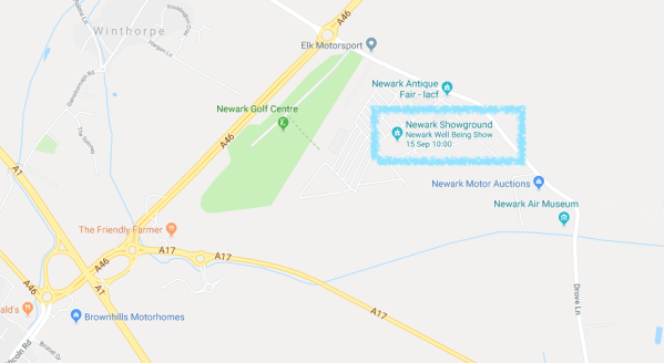 Newark Show Ground Map