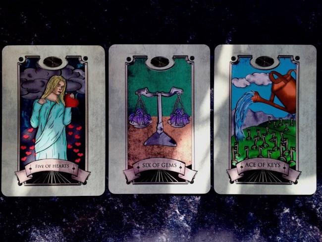 Three Cards: Simon Goodfellow's Spiritual Tarot Deck : LizianEvents : Lizian Events ; Well Being : LifeStyle