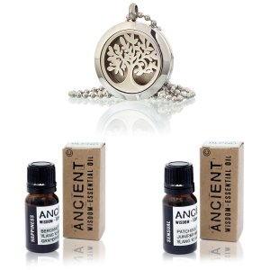 Tree of Life: Aromatherapy: Diffuser Necklace: Essential Oil: LizianShop