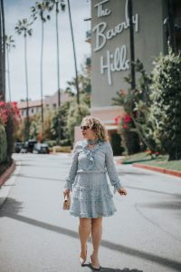 Liz in Los Angeles at The Beverly Hills Hotel