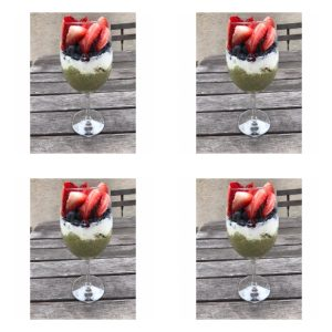recipe for matcha oats parfait