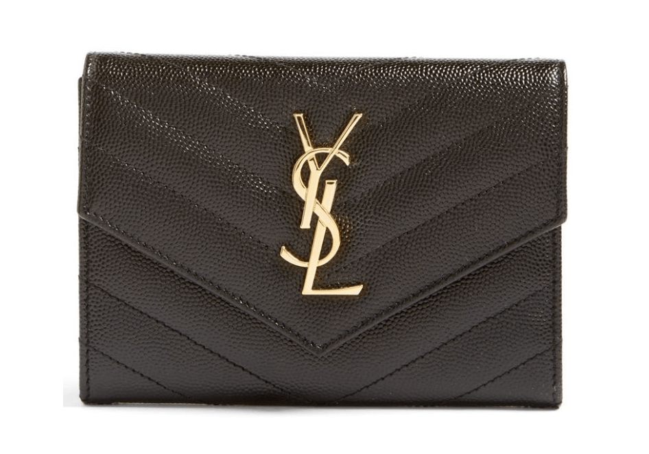 Saint Laurent Monogram Leather Passport Case