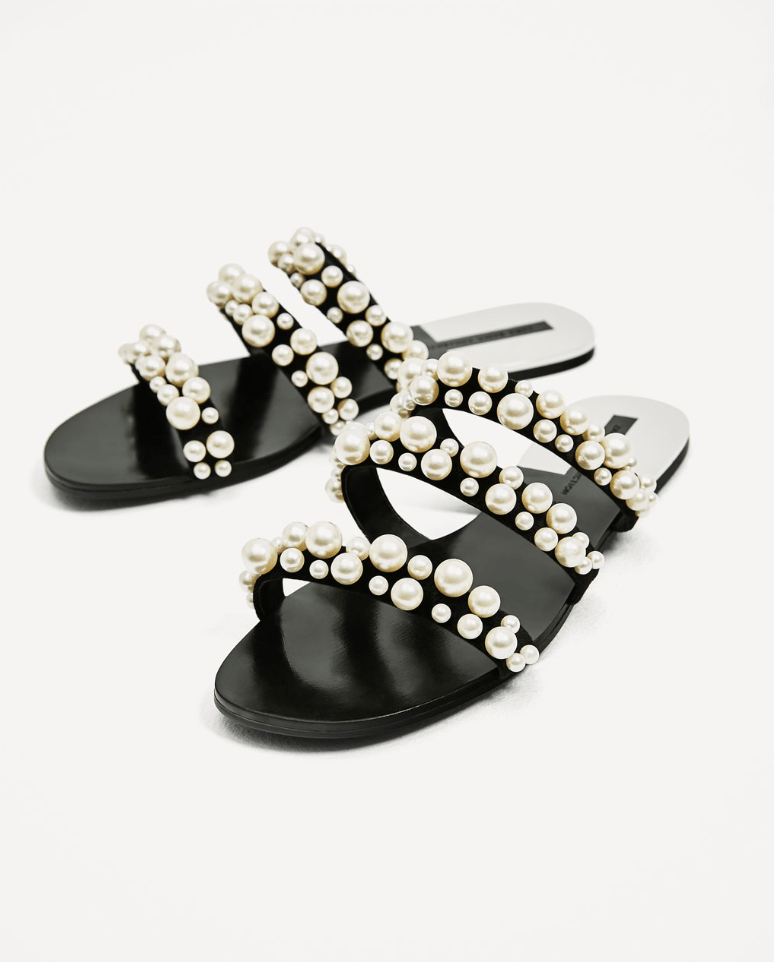 Pearl sandals picked by Liz In Los Angeles