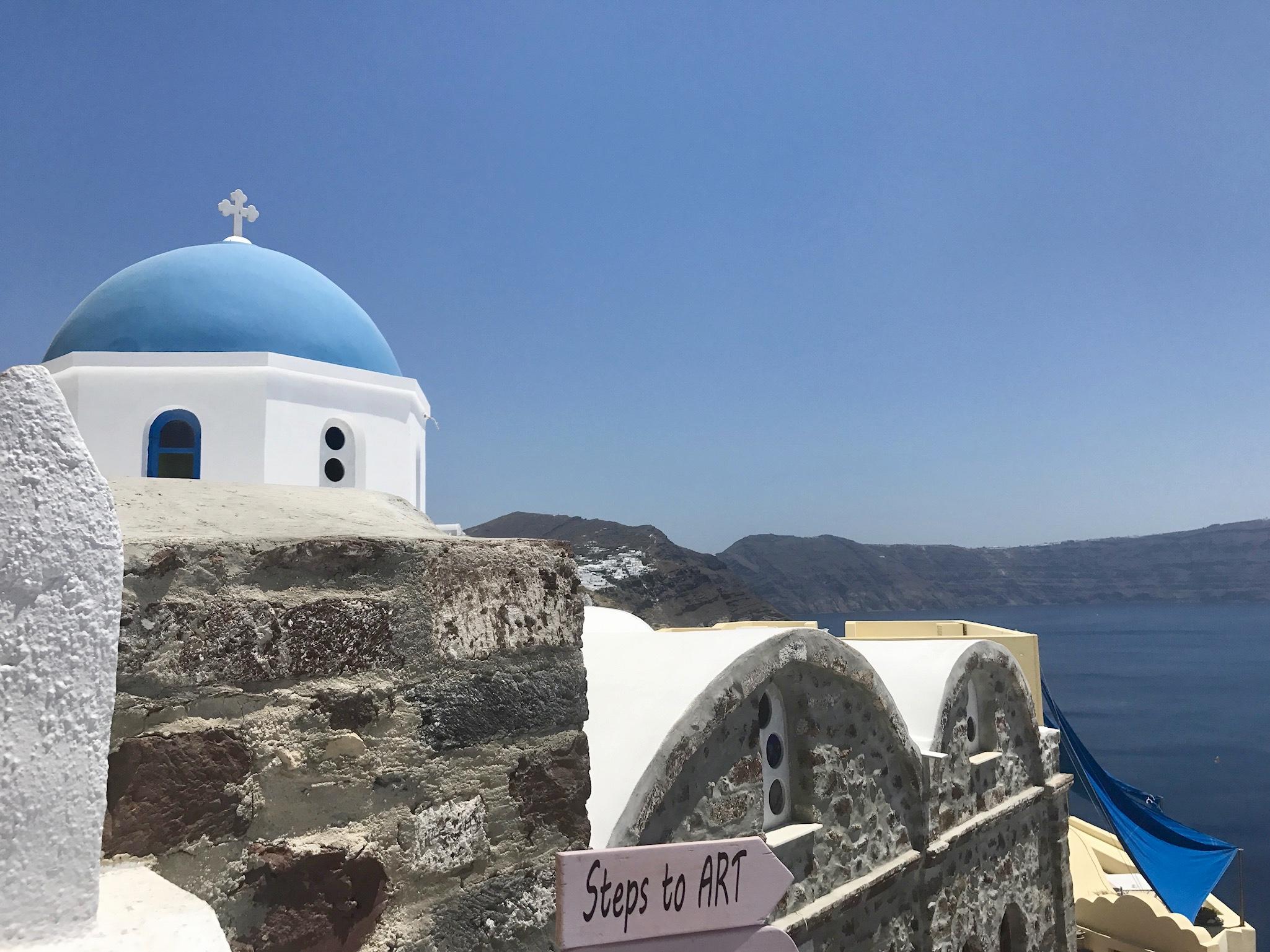 A Day in Santorini
