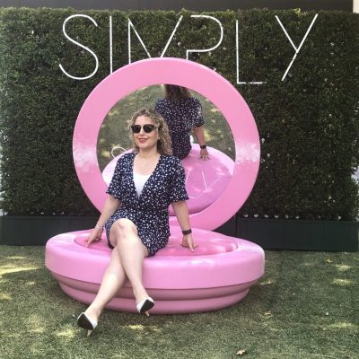 Liz in Los Angeles at Simply LA, a conference for influencer marketing