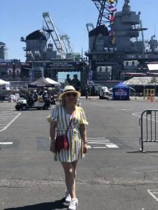 Liz in Los Angeles at LA Fleet Week