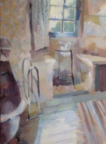 Chambre Baldaquin, oil on canvas 40 x 50