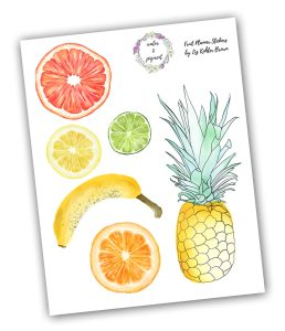 Free Download – Digital Planner Fruit Stickers – Liz Kohler