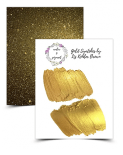 Free Gold & Glitter for Calligraphy Crush Friends