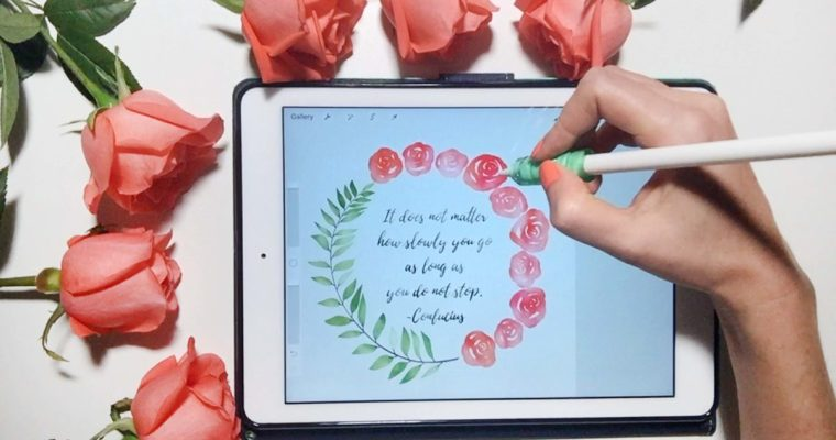 Paint Watercolor Wreaths on Your iPad in Procreate
