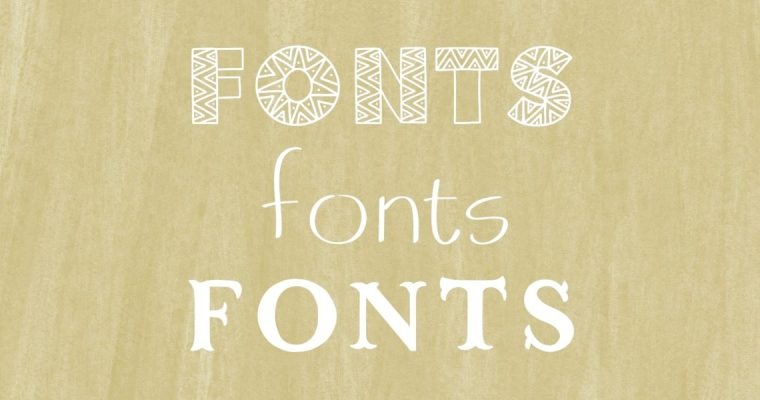 3 Free Fonts for Personal/Commercial Use: Mudcloth, Ivory, and Flourish