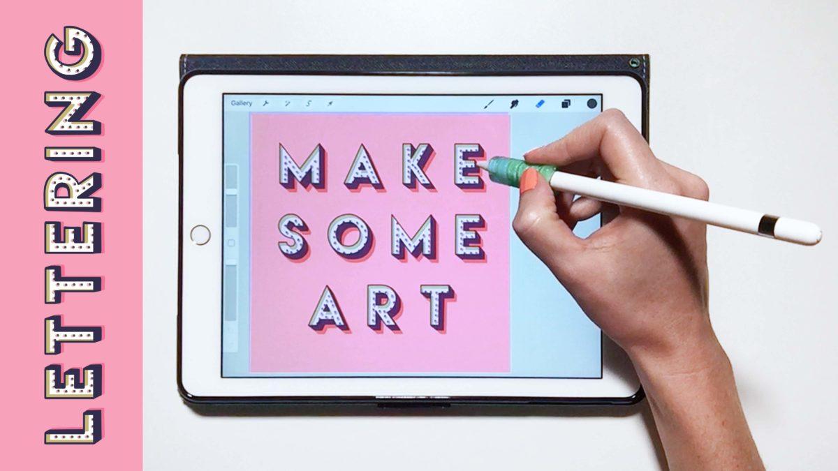 Illustrative iPad Lettering: Layouts, Textures, and Templates + Free Lettering Templates & Textures
