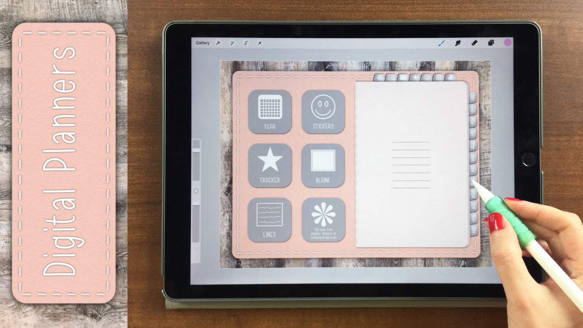 Learn how to design a digital planner on your ipad buttons stickers textures tabs